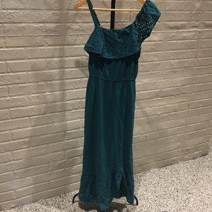 Girls turquoise maxi dress